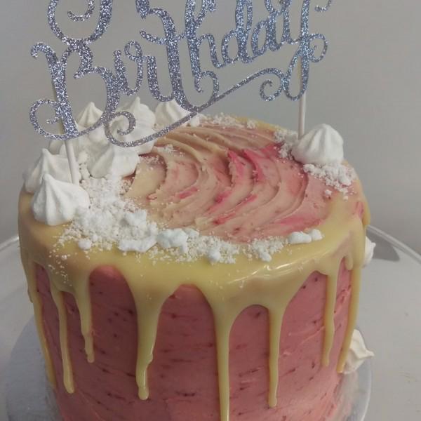 Strawberry & White Choc Cake 1